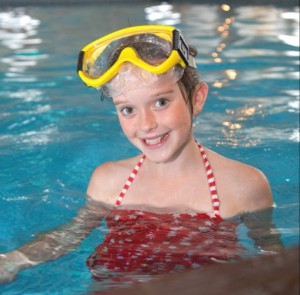 Kids can enjoy the swimming pools at Brixham Holiday Park
