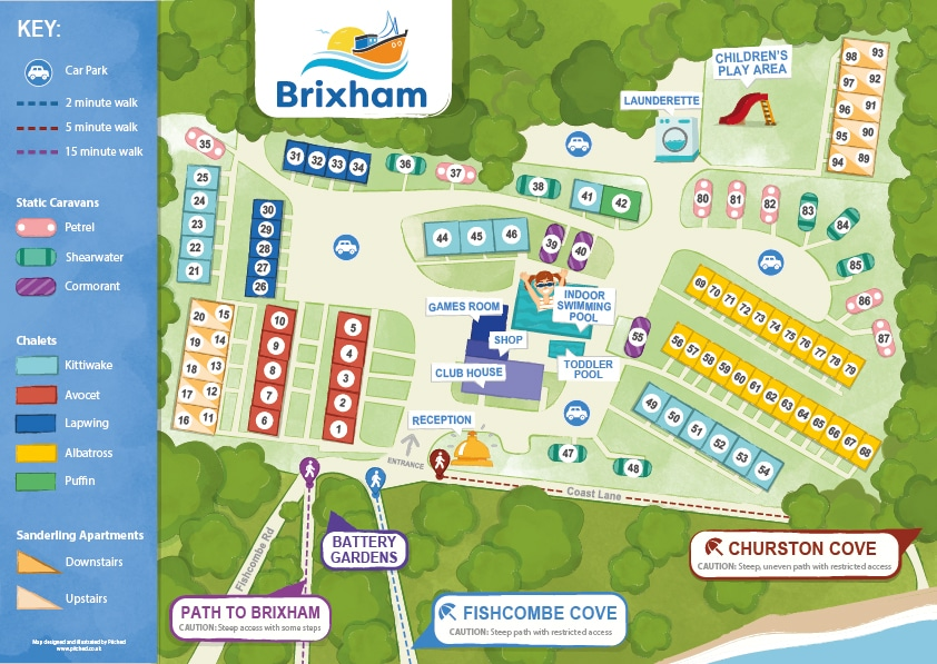 brixham holiday park map