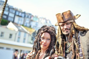 English Riviera attractions - events like the fun pirate day in Brixham mean great family days out
